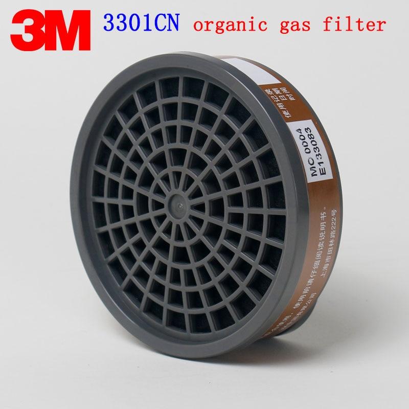 3M 3301CN Organic gas filter Genuine security 3M Gas mask filter against Painting pesticide gasoline Toxic gas 2PCS filter sephora vintage filter палетка теней vintage filter палетка теней