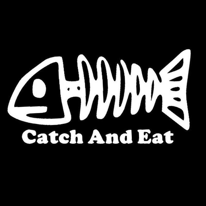 15.2 ซม.* 7.8 ซม.จับและกินกระดูกปลารถแฟชั่นรถสติกเกอร์ S4-0325