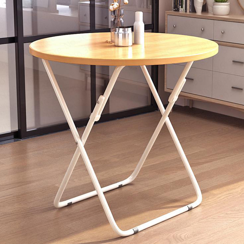 Folding Table Simple Dining Table Home Folding Study Table Simple Round Negotiation Table Laptop Small Table