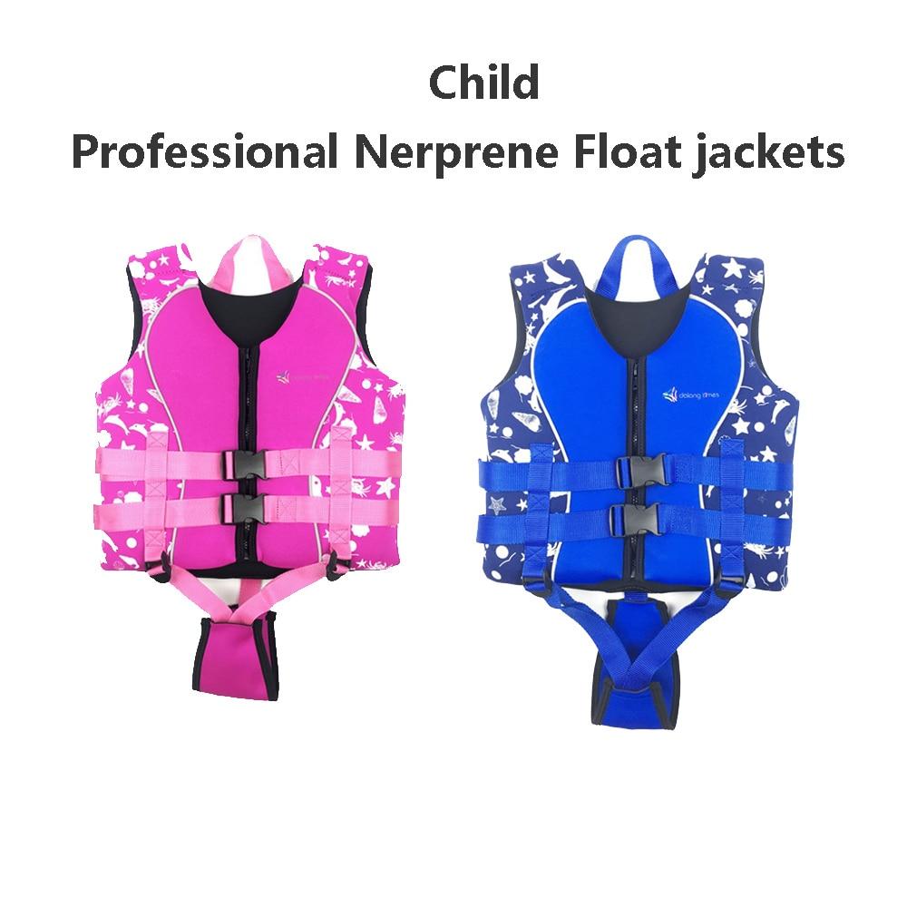 professional Neoprene life jackets baby child life vest water sports swimwear S M L 10 35kg boy girl chlidren