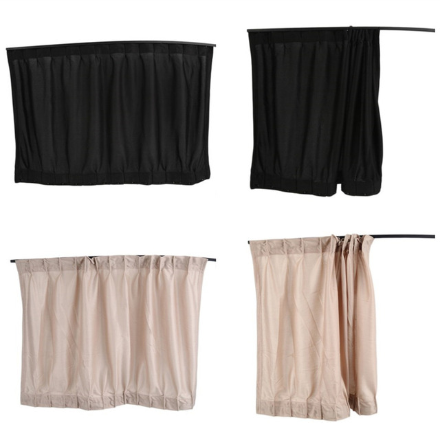 2Pcs/set New Black beige Cotton Fabric Car Auto 50S UV Protection Side Window Curtain Sunshade Set 70 x 47cm