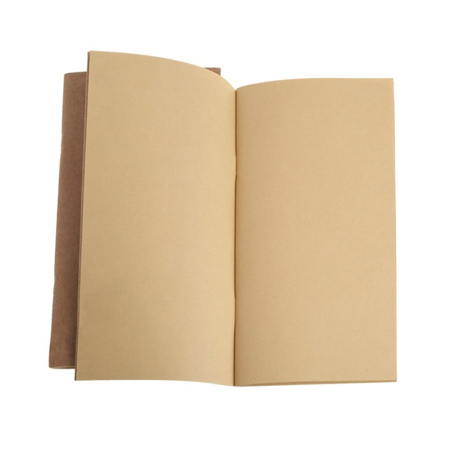 Kraft Paper Notebook Account Book Dot Journal Diary Memo Blank Page - blank diary page