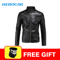 New Motorcycle Jacket PU Leather Men Vintage Motobike Faux Punk Motorcycle Leather Jacket Biker Clothing Racing Suit