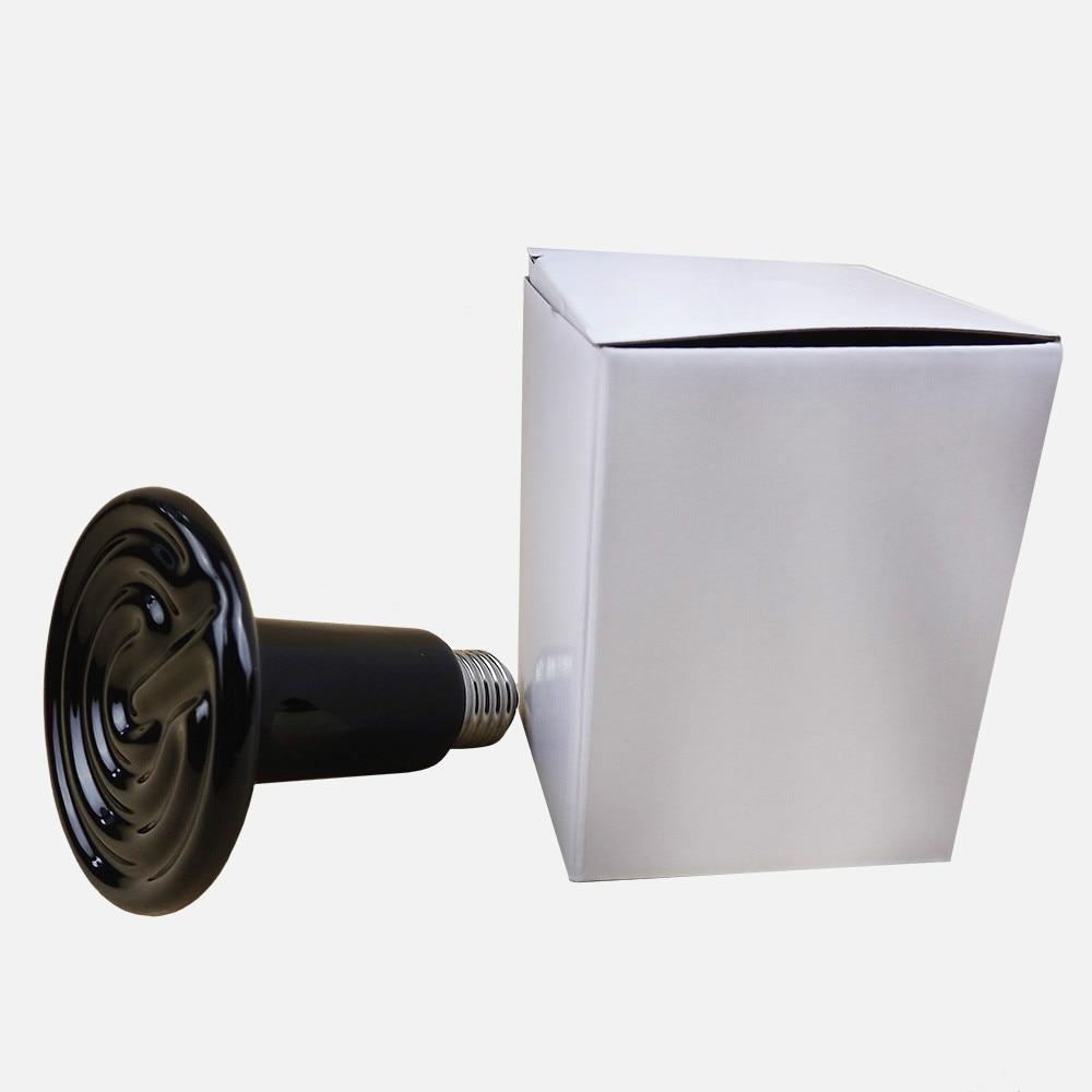 220v-240v Reptile aninal ceramic heater pet heating lamp 50w pet infrared ceramic emitter heating light bulb e27 lamp bulbs 80mm 25 40 50 60 75 100 150w for reptile pet brooder 110 220v
