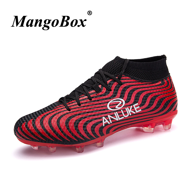 Hot Soccer Mens Sneakers Football Boots Long Spike Black/Gray Boys Sock Boots Football Designer Young Boy Football Sports Shoes