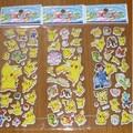 10pcs/lot Bubble Stickers 3D Cartoon Pokemon Animals Cat Classic Toys Scrapbook For Kids Children Gift Reward Sticker