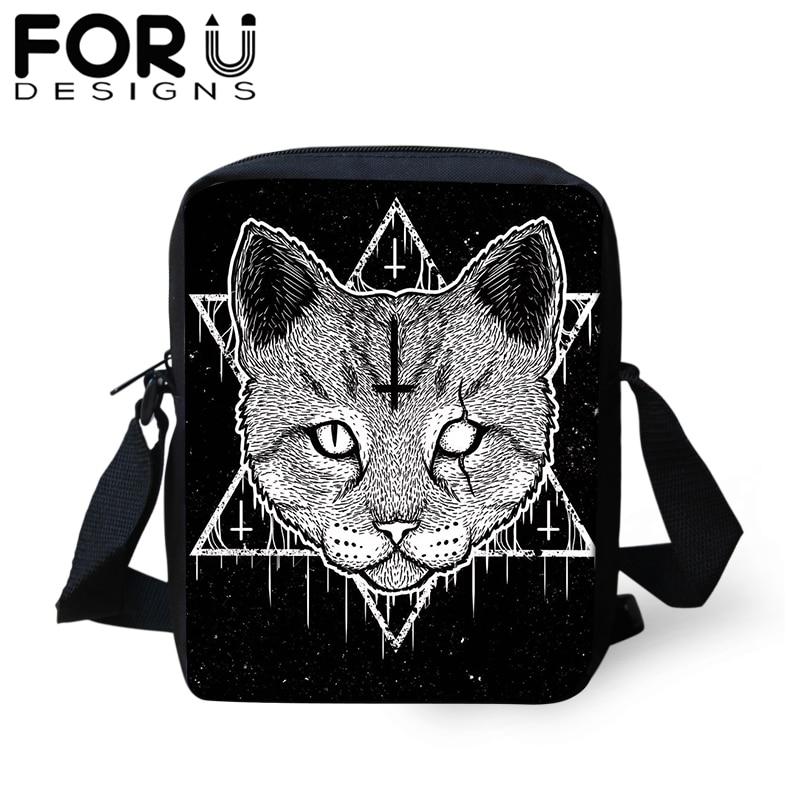 FORUDESIGNS Messenger-Bag Handbag Black Gothic Tote Crossbody-Bags Travel-Shoulder Small