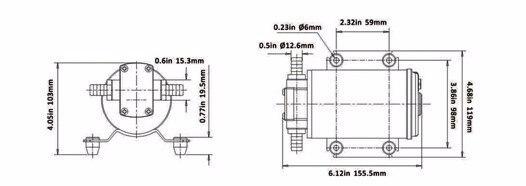 CE ISO Voiture Extracteur D'huile Pompe DC12V 24 V IP55 pompe de transfert de carburant Moto Diesel Fluide De Récupération D'huile Liquide Échange Transfert - 3