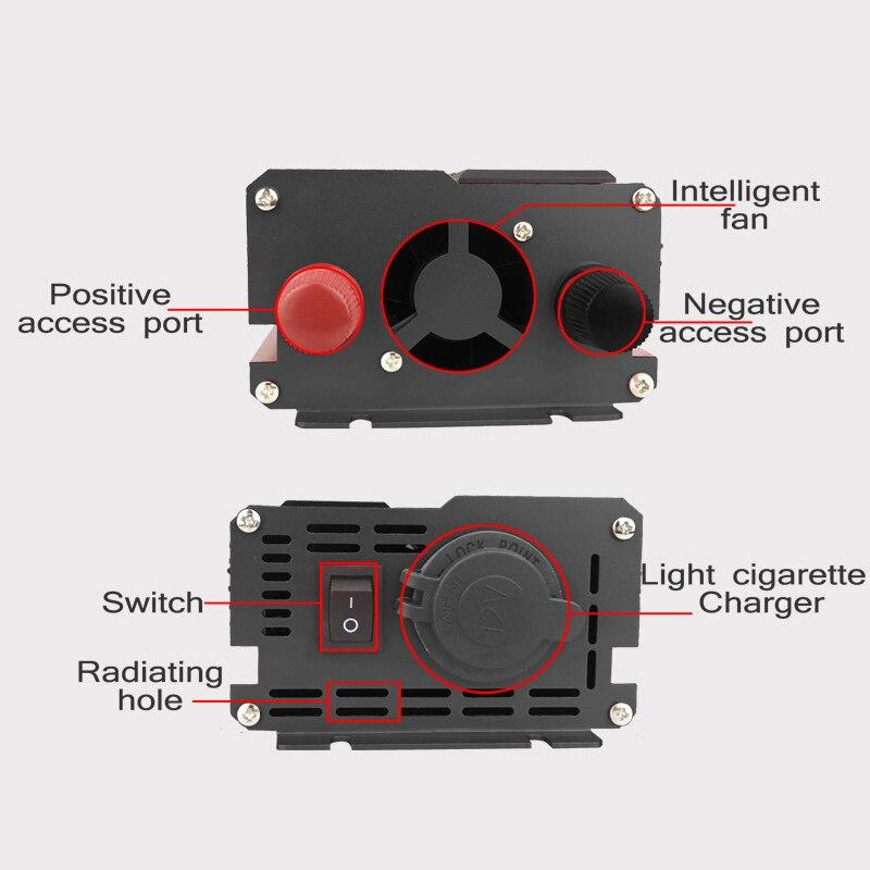 KROAK 4000W 4 USB onduleur DC 12/24V à AC 220 V adaptateur de voiture convertisseur de Charge écran LCD transformateur à onde sinusoïdale modifiée - 5