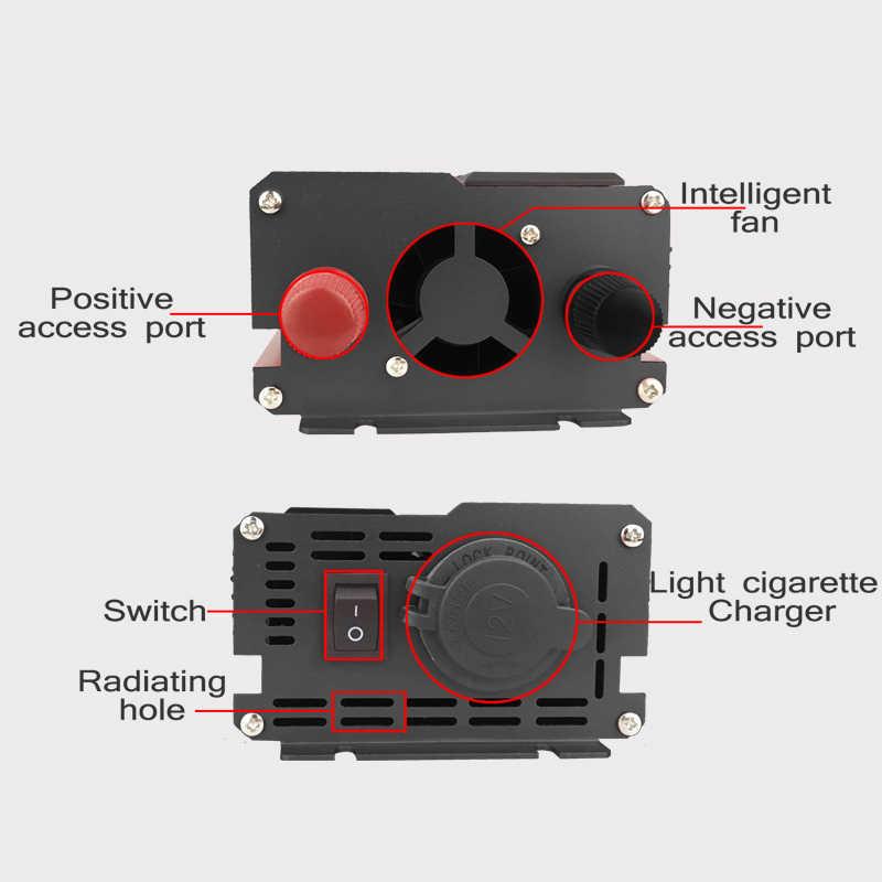 Roak 4000W 4 inversor de corriente USB DC 12/24V a CA 220 V convertidor de carga del adaptador del coche transformador de onda sinusoidal modificada para pantalla LCD