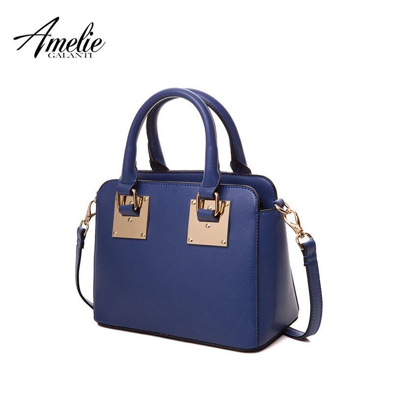 AMELIE GALANTI Women Top-handle Handbags Shoulder Leather Bag Totes Flap Crossbody Bags Solid sequined classic versatile amelie galanti fashion women backpack teenager school bag with diamond medium flap shoulder bag top handle bag softback backpack