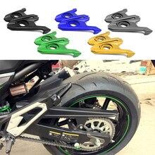 Eje de horquilla trasera para motocicleta Kawasaki, piezas de bloque de Ajustador de cadena, tensores de aluminio CNC, para Kawasaki Z800 Z 800 2013 2014 2015 2016