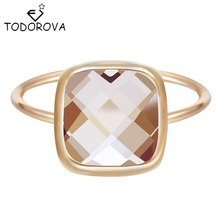 Todorova Wedding Rings For Girls Square Big Stone Jewelry Bague Bijoux Femme Engagement Ring Accessories