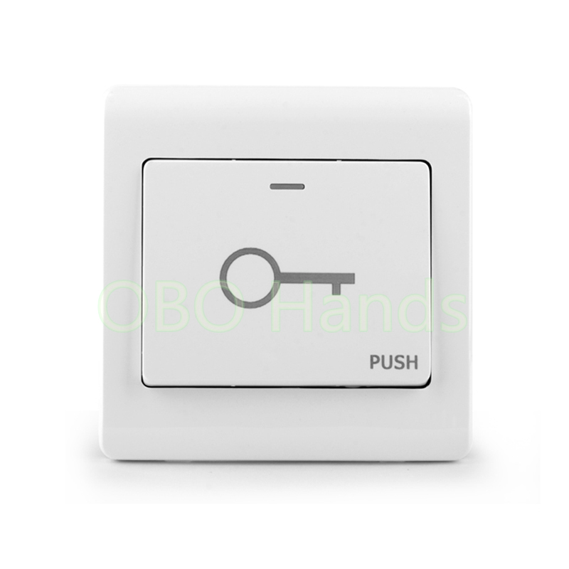 Fireproofing Plastic ABS White Push Door Release Exit Button Switch for Door Lock Access Control system M6 model free shipping plastic exit button exit switch for door access control system door push exit door release switch with back box