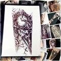 5 Листов 1 Лот Макияж Старые Часы Временные Татуировки Наклейки Крест/большой Панк Для Тела Рука Рукав Клей Поддельные Татуировки Хной