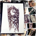 5 Folhas 1 Lote Maquiagem Relógio Velho Temporárias Tatuagem Adesivos Atravessar/grande Adesivo Falso Do Punk Para O Corpo Braço Manga Tatuagem de Henna