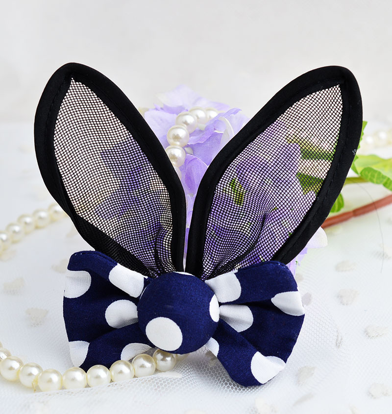 2019 New Arrival Summer Hairpin For Girls Fashion Rabbit Ears Hair Clip Dot Print Fabrics Knot Barrettes Headwear For Kid 2 PCS in Hair Accessories from Mother Kids