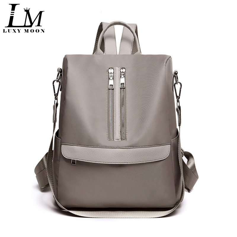 Oxford Backpack Shoulder-Bags Travel Female School Zipper Multi-Function Top-Quality