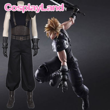 Game Final Fantasy VII Costume Cloud Strife Cosplay Uniform Halloween Carnival Party Adult Men Pants Suit Custom Made