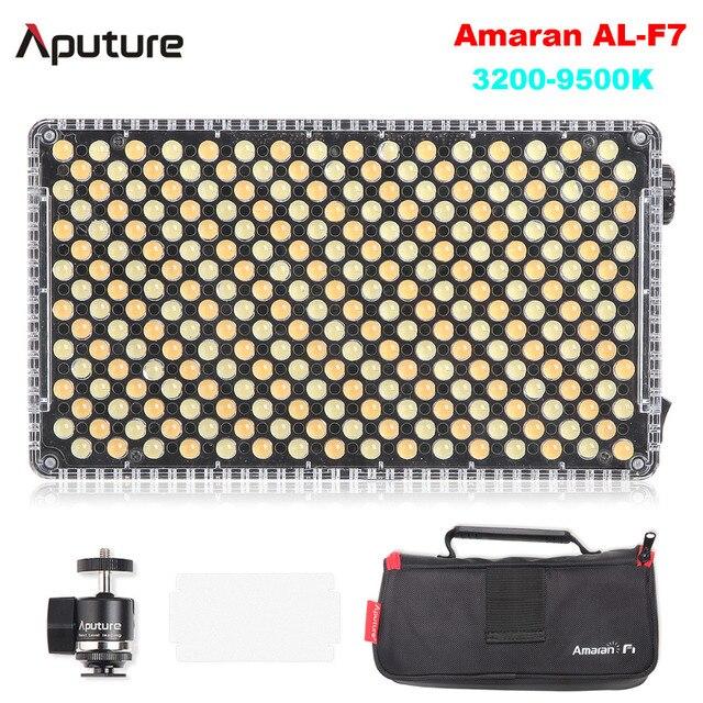 Aputure Amaran AL-F7 Bi-Color Temperature 3200-9500K CRI & TLCI 95+ 256Pcs Led Panel Most Versatile Portable On-Camera LED light