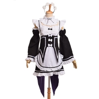 Ram Rem Cosplay Dress Re Zero Kara Hajimeru Isekai Seikatsu Fancy Dress Maid Uniform Costume