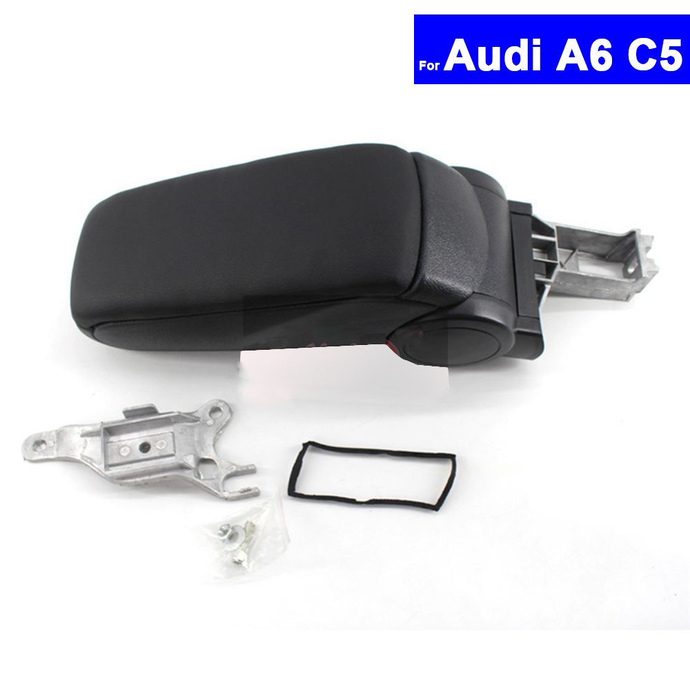 Car Armrest Central Store Content Storage Box For Audi A6 C5 1998 1999 2000 2001 2002 2003 2004 2005Auto Center Console Armrests jeazea glove box light storage compartment lamp 1j0947301 1j0 947 301 for vw jetta golf bora octavia 2000 2001 2002 2003 2004