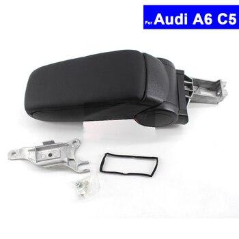 Car Armrest Central Store Content Storage Box For Audi A6 C5 1998 1999 2000 2001 2002 2003 2004 2005Auto Center Console Armrests