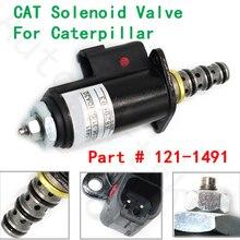 Часть#121-1491 1211491 KWE5K-31 G24DA30 CAT Соленоидный клапан для гусеницы E320B/C/D 315C 325C экскаватор клапан электромагнитного поворотного механизма