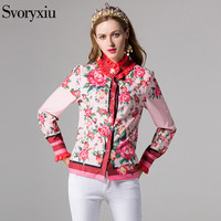 2017 Runway Designer Summer Brand Shirt Women S High Quality Long Sleeve Flower Floral Print Plus