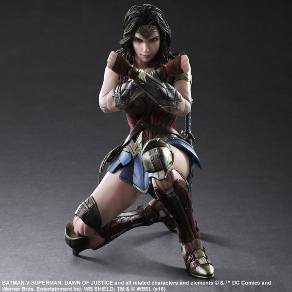 Anime DC COMICS PLAY ARTS KAI Batman VS Superman The Princess Wonder Woman PVC Action Figure Super Hero Kids Toys Doll 24CM 8 20cm dc wonder woman headknocker wacky wobbler bobble head pvc figure toy doll wf016