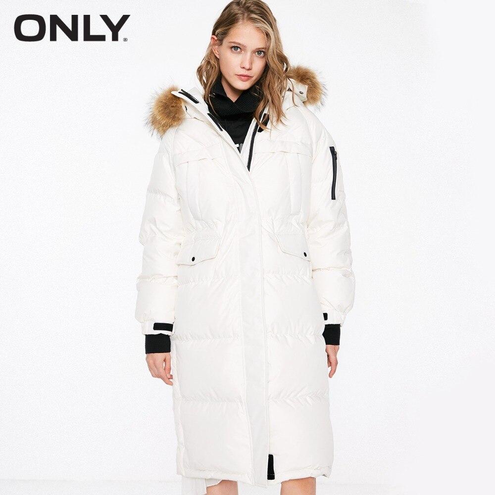 Sólo las mujeres es SOCKS Overknee recta larga chaqueta con capucha  118412520 -in Plumíferos from Ropa de mujer    1