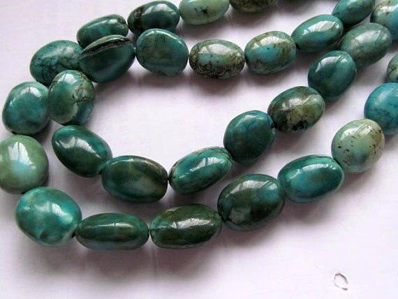 Haute qualité 10-25mm 5 brins turquoise pierres précieuses pépites freeform jaune bleu vert aqua bleu mélangé tibétant bijoux perles 16inc