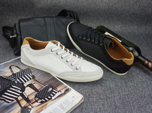 Wholesale Herrskor Flats men brown shoe men free shipping herrenschuhe 2015 Genuine Leather Deodorization Button 4 colors, 39-47