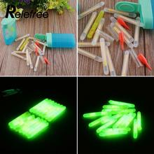 Relefree 15pcs Mini Fishing Fluorescent Lightstick Night Float Clip On Dark Glow Stick