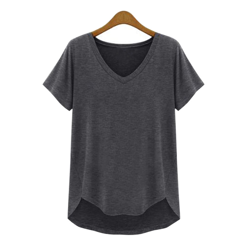 5xl 4xl 3xl plus size top women clothing casual loose v for Plus size 3 4 sleeve tee shirts
