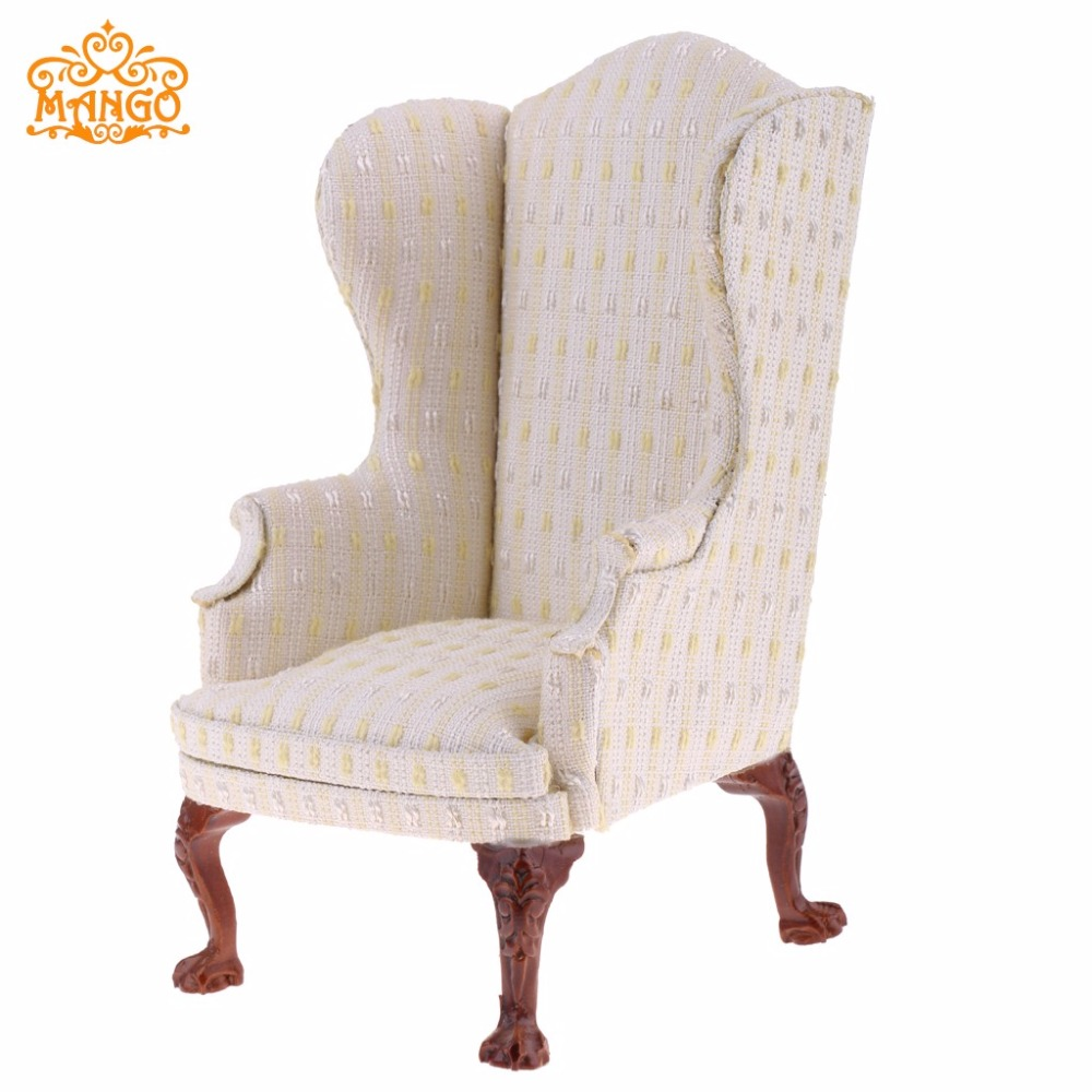 1/6 Dollhouse salon meubles aile chaise unique canapé canapé pour 1:6 maison de poupée décor enfants classique cadeau d'anniversaire recueillir