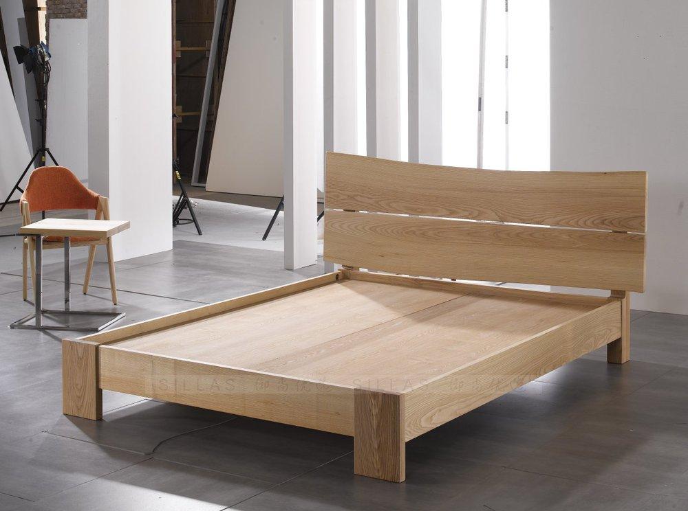 Bases de cama de madera base cama queensize madera rosa for Cama king size de madera