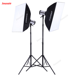 280W double Flash light Set Photography flash suit lighting kit Studio lamp stand softbox two lights package CD50 T10