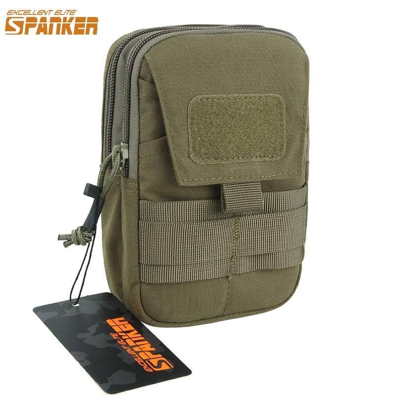 EXCELLENT ELITE SPANKER EDC Tactical Waist Phone Bag Mobile Phone Outdoor Military Molle  Men Money Waist Tool Pouch