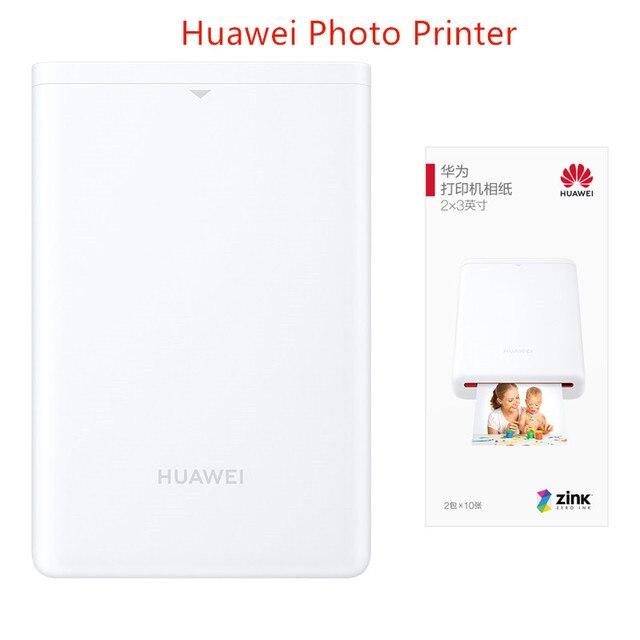 オリジナルhuawei社arプリンタ 300dpiポータブル写真ミニポケットdiy共有 500 2600mah画像プリンタポケットbluetooth 4.1