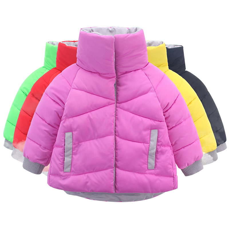 OLEKID 2018 Winter Jacket For Girls Brand Fashion Warm Candy Colors Girls Parka 2-7 Years Kids Baby Girls Outerwear Coat olekid 2017 new cartoon rabbit winter girls parka thick warm hooded children outerwear 5 14 years teenage girls sweater coat