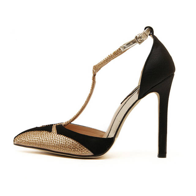 placeholder ZOGEER Brand Designer Sexy Women Sandals High Heels T-strap  Pointed Toe Luxury Rhinestone Party a31c6e4ff171