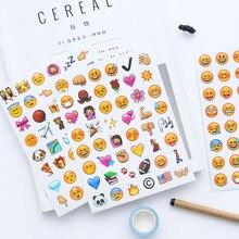 4sheet/set Cartoon Funny Emoticon Emoji Sticker Creative Diary Phone Photo Album Decoration Stickers for Kids Gift School Supply