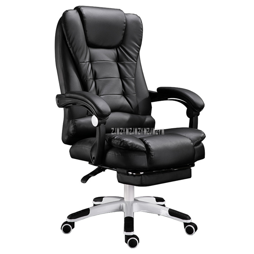 Home Office Computer Desk Massage Chair With Footrest Reclining Executive Ergonomic Vibrating PU Leather Adjustable Office Chair home office computer desk massage chair with footrest reclining executive ergonomic vibrating office chair furniture