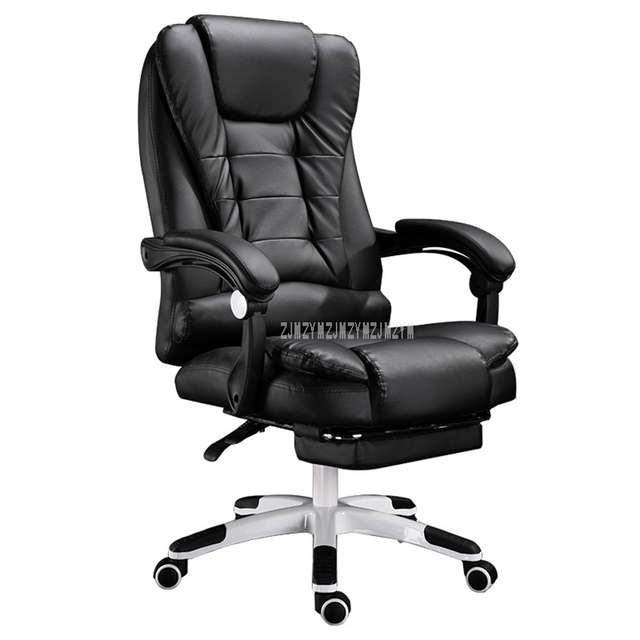 Home Office Computer Desk Mage Chair With Footrest Reclining Executive Ergonomic Vibrating Pu Leather Adjule