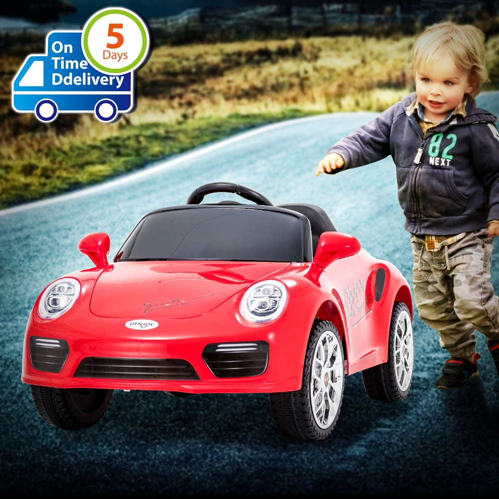 Electric Vehicles For Kids >> Uenjoy Kids Ride On Cars 6v Batterypower Kids Electric Vehicles With Wheels Suspension Music Remote Control Headlights And Horn
