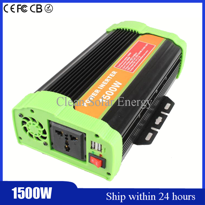 Hot DC 12V To AC 220V Car Power Inverter Auto Converter Car Inverter+USB/ Power Supply Switch On-board Charger for 1500W Device gub hin 181 portable bicycle stainless steel repair tool kit wrench set black