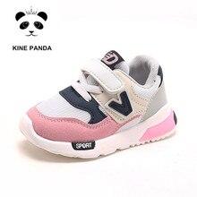 KINE الباندا رياض الأطفال أحذية رياضية كاجوال تنفس بنين بنات الرياضة احذية الجري طفل رضيع 1 2 3 4 5 سنة