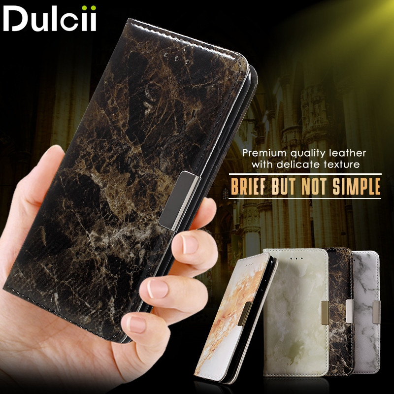 Dulcii for Xiomi Redmi Note3 Cover Marble Texture Leather Wallet Flip Phone Cases for Xiaomi Redmi Note 3 Case for Note 3 pro