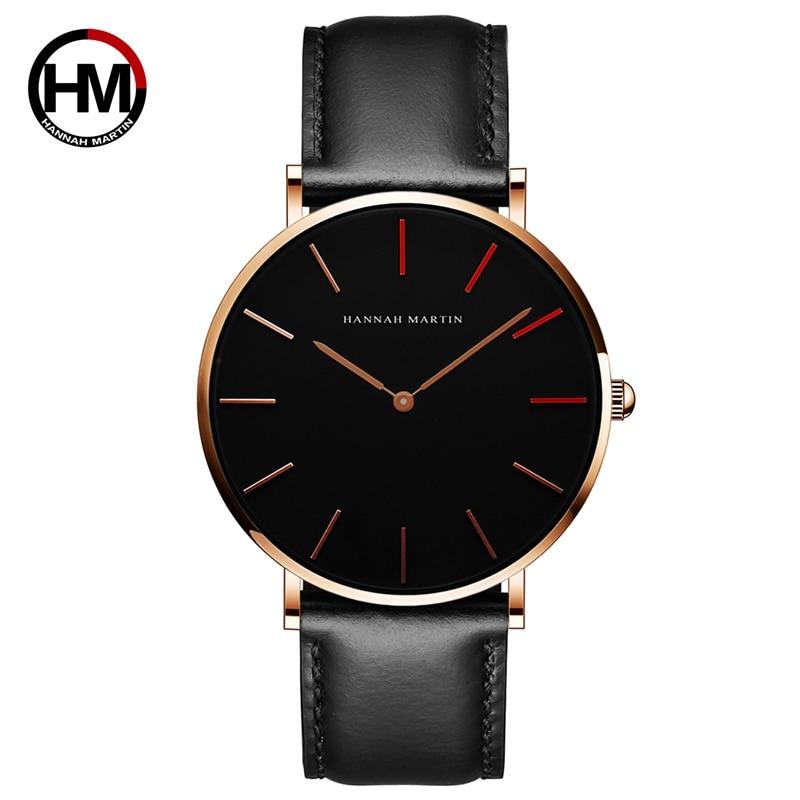 Hannah Martin Brand 2018 NEW Luxury Men Sport Watches Men's Quartz Clock Man Army Military Leather Wrist Watch Relogio Masculino